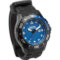 Cressi Taucheruhr Manta Dark Black Blue Edition