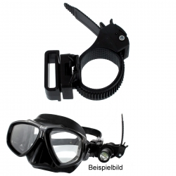 maskenbandhalter f r stablampen tauchlampen als lampenhalter f r taucherbrillen. Black Bedroom Furniture Sets. Home Design Ideas