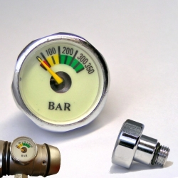 Miniatur Finimeter, Bottle Manometer, Flaschenfini